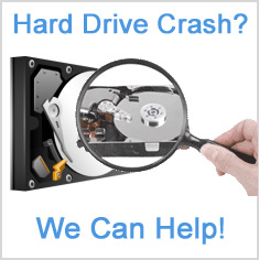 We can help with a hard drive crash