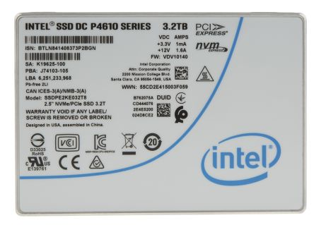 Intel SSD DC P4610 series data recovery